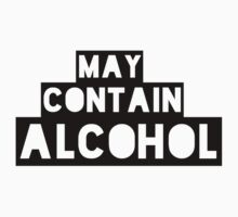May Contain Alcohol | Blackout Shirts by FreshThreadShop