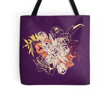 Graphic composition composed of tulips and narcissus Tote Bag