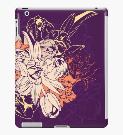 Graphic composition composed of tulips and narcissus iPad Case/Skin