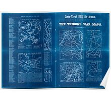 Civil War Maps 1809 The Tribune war maps Inverted Poster