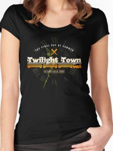 Twilight Town Women's Fitted Scoop T-Shirt