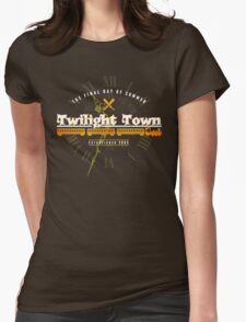 Twilight Town Womens Fitted T-Shirt