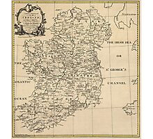 Antique Map of Ireland from c1795 Photographic Print