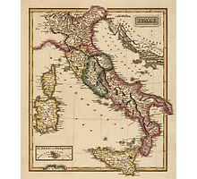 Antique Map of Italy from c1817 Photographic Print