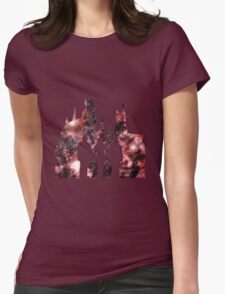 Hogwarts Silhouette Red. Womens Fitted T-Shirt