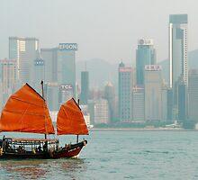 Hong Kong Junk Boat by Cherrybom