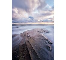 A Lone Rock Reaches Out to Sea Photographic Print