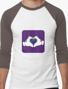 Mickey's Kingdom Heart. Men's Baseball ¾ T-Shirt