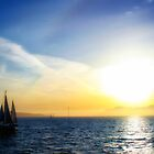 Sunset over San Francisco Bay by leifrogers