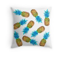 Fancy pineapples Throw Pillow