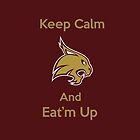 Texas State Bobcat Keep Calm and Eat'm Up iPad by Merwynlee