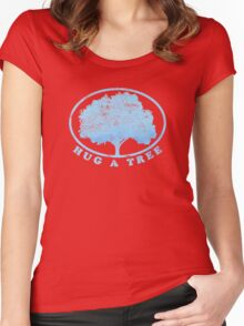 Hug a Tree Women's Fitted Scoop T-Shirt