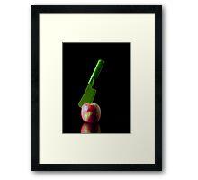 I Hate Fruit - Apple Framed Print