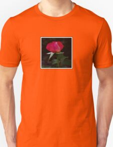 double delight rose bud (square) Unisex T-Shirt