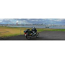 BMW R100RS - Looking toward Melbourne from Williamstown Photographic Print