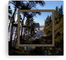 awesome ruby beach, wa (2x square) Canvas Print