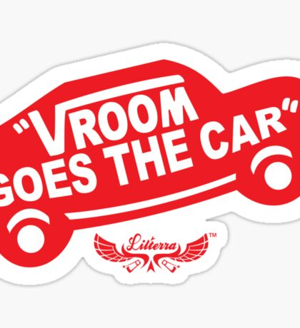 Vroom Goes the Car Sticker