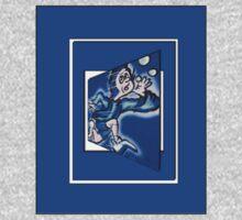blue boy runnin' vertical (frame) One Piece - Long Sleeve