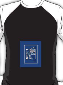 blue boy runnin' vertical (frame) T-Shirt