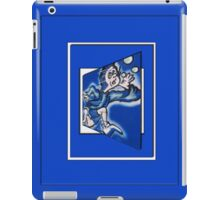 blue boy runnin' vertical (frame) iPad Case/Skin