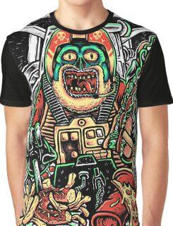 Zombie Star Farter Pilot Graphic T-Shirt