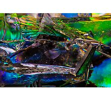 Colorful Broken Glass Photographic Print
