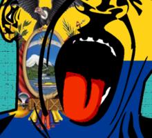 Ecuador Scream Sticker