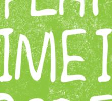 PLAY TIME IS OGRE (SHREK) Sticker
