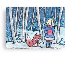 The Snow Child Canvas Print