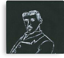 Portrait of Nikola Tesla Canvas Print