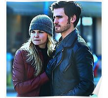 Captain Swan in Storybrooke Comic Poster Logoless Design Poster