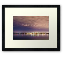 Vancouver at night from Spanish Banks Framed Print