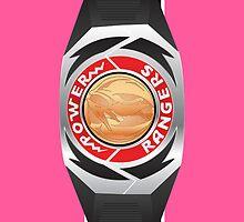 MMPR Pink Ranger Morpher/Buckle Phone Case by Russ Jericho