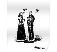 Nikola Tesla and Lady Poster