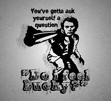 """Do i feel Lucky?"" -Clint Eastwood (Dirty Harry) [white] by FanmadeStore"