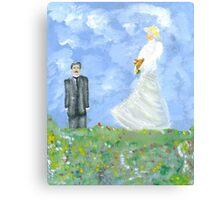 Nikola Tesla and Lady Angel Canvas Print