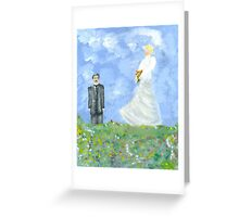 Nikola Tesla and Lady Angel Greeting Card