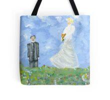 Nikola Tesla and Lady Angel Tote Bag
