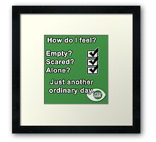 Just Another Ordinary Day Framed Print
