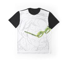 Adults Colouring in Glasses Print Graphic T-Shirt