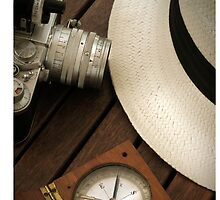Leica camera and panama hat by laikaincosmos