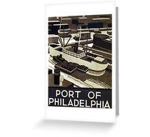 Port of Philadelphia Greeting Card