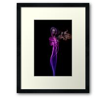 Smokeworks - Praying in the wind Framed Print