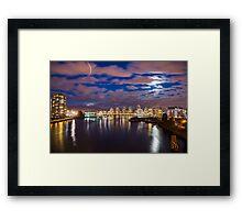 False Creek at Night Framed Print