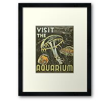 Visit the Aquarium, Jelly Fish Framed Print