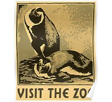 Visit the Zoo, Penguin Pair Poster