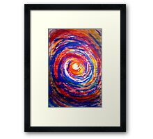 Colourful Whirl Framed Print