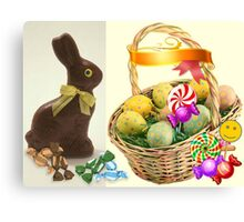 Easter Basket of SWEETS Canvas Print