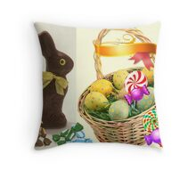 Easter Basket of SWEETS Throw Pillow