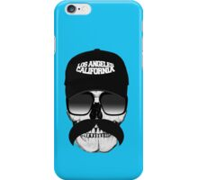Skull and mustache iPhone Case/Skin